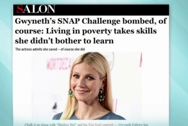 Gwyneth Paltrow fails her $29 food stamp...