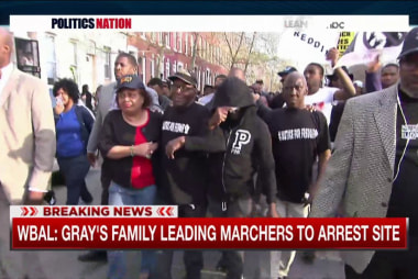 Protests erupt in Baltimore over Gray death