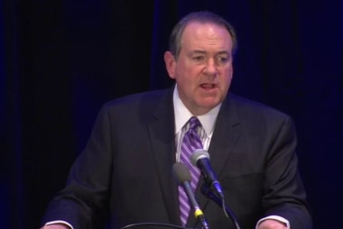 Huckabee far behind as he joins...