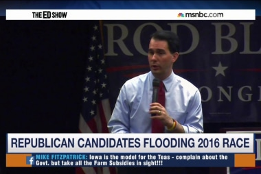 Walker leads Republican pack in Iowa