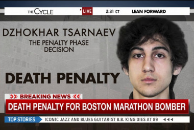 Tsarnaev receives the death penalty