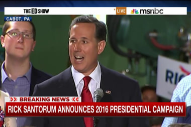 Santorum joins crowded GOP field