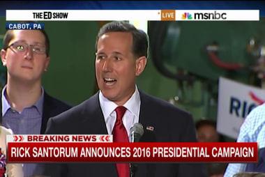 Santorum joins crowded GOP field