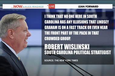 Is Lindsey Graham running as 'the anti...