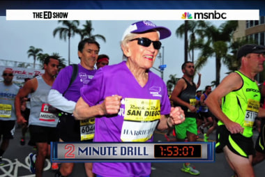 Woman, 92, sets marathon record