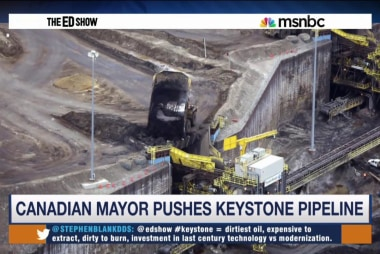 Canadian mayor defends Keystone