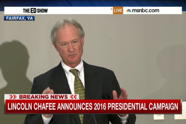 Chafee joins Democratic race for president