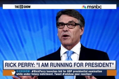 Indicted Perry enters 2016 race