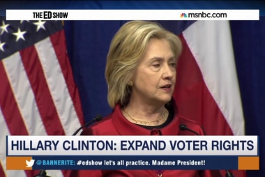 Clinton: Expand voting rights