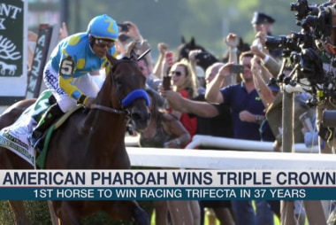 American Pharoah wins triple crown