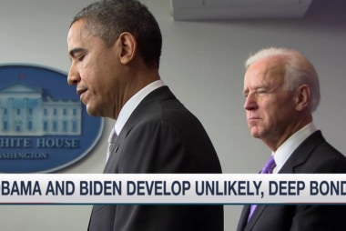 Obama and Biden develop unlikely, deep bond