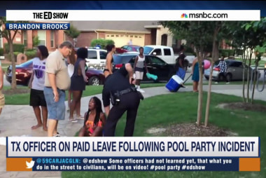 Officer on leave after pool party incident