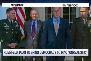 Rumsfeld backtracks Iraq comments