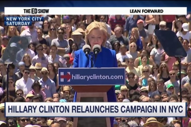 Hillary Clinton re-launches campaign