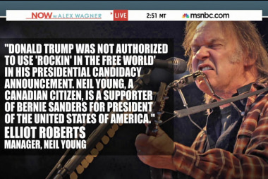 Why Neil Young is not happy with Donald Trump