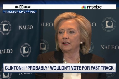 Clinton would 'probably not' vote for ...