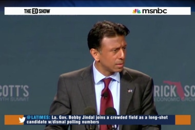 Jindal in, Trump surges