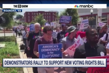 Hundreds rally for voting rights