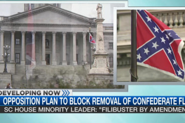 Opposition to block confederate flag removal