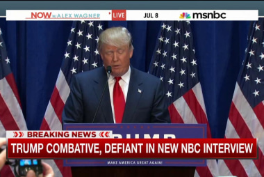 Trump combative, defiant in NBC interview