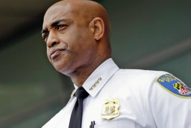 Baltimore police commissioner dismissed