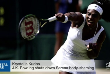J.K. Rowling's #GrandSlam on Serena body-shaming