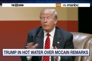 Trump in hot water over McCain remarks