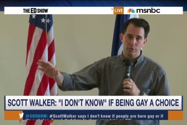 Walker: 'I don't know' if being gay is a...