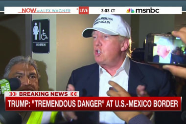 "Trump: ""Tremendous danger"" at Mexican border"