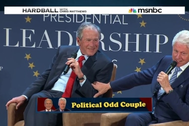The unlikely friendship of Presidents Bush...