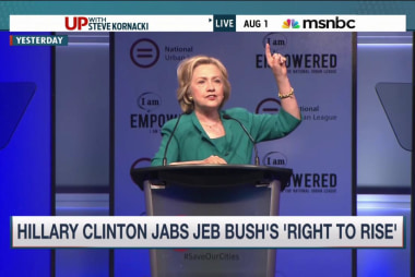Hillary Clinton takes aim at Jeb Bush