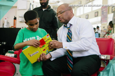 Effort to get children's books in barbershops