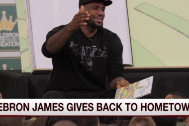 How LeBron James is giving back