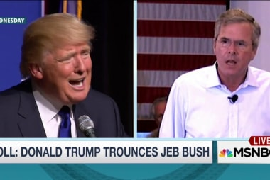 Trump, Bush trade shots during NH town halls