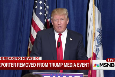 Reporter removed from Trump press conference