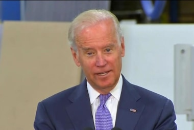 Biden makes surprise visit at Democrats event
