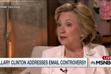 Clinton on email: I didn't really stop and...