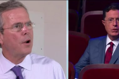 Jeb Bush struggles amid Colbert dispute