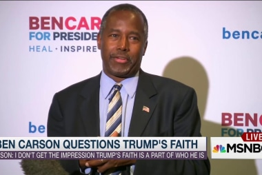 Ben Carson takes a swipe at Trump on religion