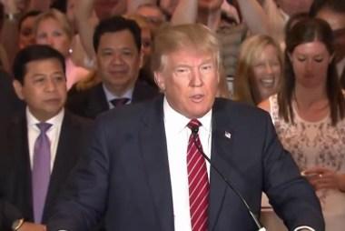 Trump attends football rivalry game in Iowa