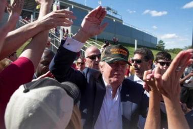 GOP contenders leave Reagan cheer behind