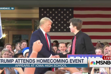 Trump appears at high school homecoming