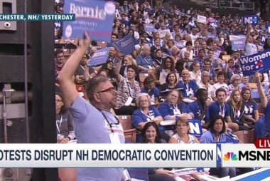 Protests disrupt NH Democratic convention