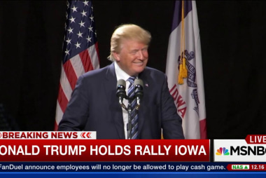 Donald Trump holds rally in Iowa