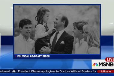 Draft Biden debuts new TV ad