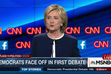 Clinton dominates first Democratic debate