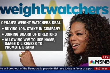 Oprah partners with Weight Watchers
