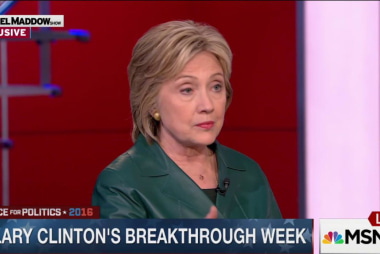 Was it Hillary Clinton's best week so far?