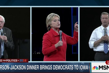 Clinton, Sanders spar at Iowa fundraiser