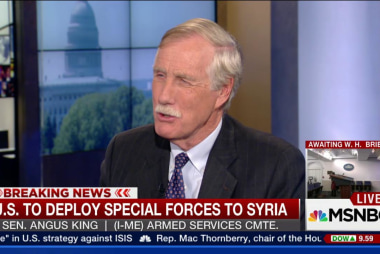 Sen. King: Military action not authorized